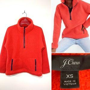 J.Crew polartec fleece half-zip pullover. Size XS